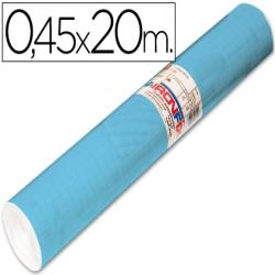 Rollo adhesivo aironfix unicolor azul mate claro 67013-rollo de