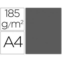 Cartulina guarro din a4 gris plomo 185 gr paquete 50 h