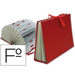 Carpeta fuelle liderpapel folio carton forrado burdeos 1377-FU01
