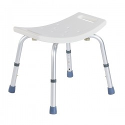 Shower chair | Aluminum | Adjustable in height | Anti-skid tips