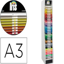 Expositor guarro vacio 34 estantes para cartulina a3 185 grs