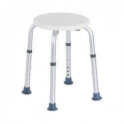 Cheap aluminum shower stool | Adjustable in height