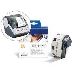 Etiqueta brother dk11218 para impresoras ql-circulares 24 mm
