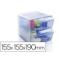 Archicubo archivo 2000 2 cajones organizador modular plastico
