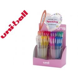 Boligrafo uni ball um-120 signo 0,7 mm tinta gel expositor de