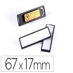 Identificador portanombre durable pvc antiarañazos con iman y