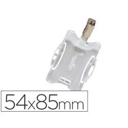 Identificador con pinza giratoria durable uso
