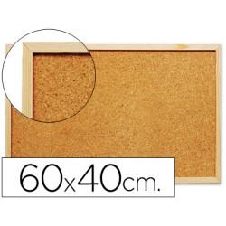Pizarra corcho q-connect 60x40 cm marco de madera 21812-KF03566