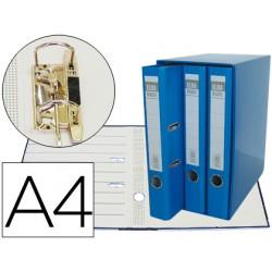 Modulo elba 3 rchivadores de palanca din a4 2 anillas azul lomo