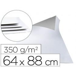 Cartoncillo blanco una cara 350 gr - paquete de 1 kilo 5 hojas