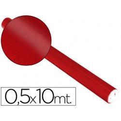 Papel metalizado rojo rollo continuo de 0,5 x 10 mt 5661-153