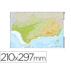 Mapa mudo color din a4 andalucia fisico 24600-611
