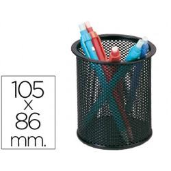 Cubilete portalapices q-connect metal rejilla negro -medida
