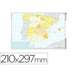 Mapa mudo color din a4 españa -politico 24588-2117000091