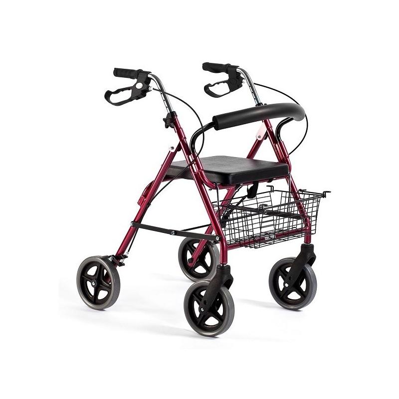 Andador para adultos   Aluminio   Plegable   Asiento y respaldo