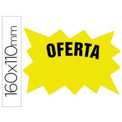 Cartel cartulina etiquetas marcaprecios amarillo fluorescente