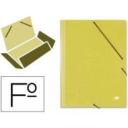 Carpeta liderpapel gomas folio 3 solapas carton simil prespan