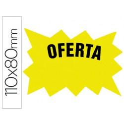 Cartel cartulina etiqueta marcaprecios amarillo fluorescente