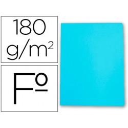 Subcarpeta cartulina gio folio celeste pastel 180 g/m2