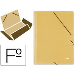 Carpeta liderpapel gomas folio 3 solapas carton prespan
