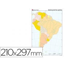 Mapa mudo color din a4 america sur politico 24586-2117000141