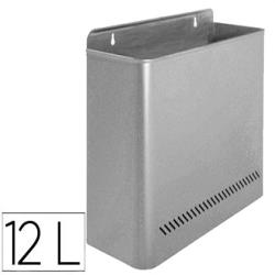 Papelera metalica 99 de pared 285x125x325 gris 23643-99-G