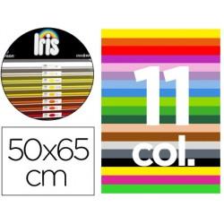 """Cartulina guarro 50x65 contenido """"b"""" 25 hojas x 11 colores"""