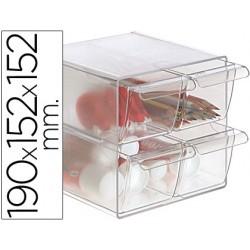 Archicubo archivo 2000 4 cajones organizador modular plastico