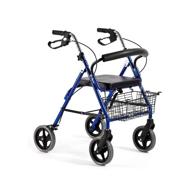 Andador para adultos | Aluminio | Plegable | Asiento y respaldo