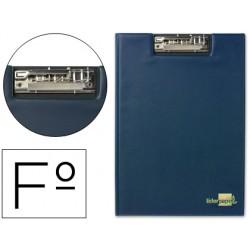 Carpeta liderpapel miniclip superior folio plastico azul