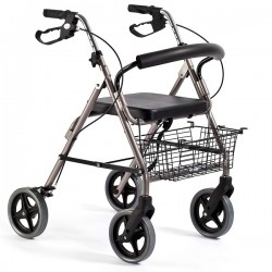 Walker for adults | Aluminum | Foldable | Seat and backrest | 4