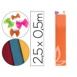 Papel crespon liderpapel 50 cm x 2.5m 34g/m2 naranja claro