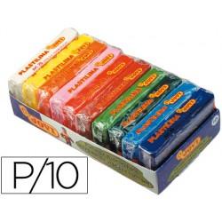 Plastilina jovi -bandeja con 10 paquetes colores surtidos