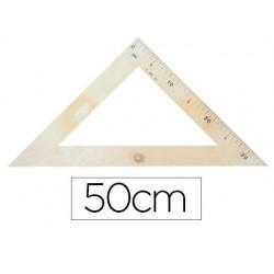 Escuadra para encerado faibo plastico imitacion madera 50 cm