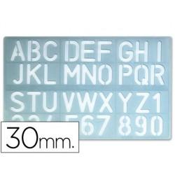 Plantilla rotulacion 1600 -letras y numeros de 30 mm