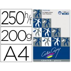 Papel fotocopiadora color copy glossy din a4 200 gramos paquete