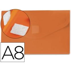Carpeta liderpapel dossier broche polipropileno din a8 naranja