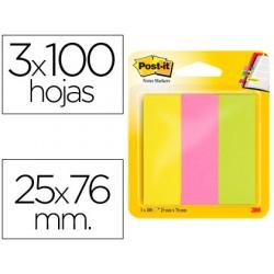 Bloc de notas adhesivas quita y pon post-it 671/3 mininotas