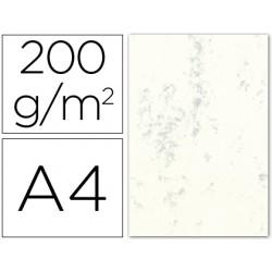 Cartulina marmoleada din a4 200 gr. gris paquete de 100 h