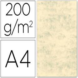 Cartulina marmoleada din a4 200 gr. crema claro paquete de 100