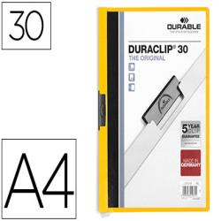 Carpeta duraclip dossier pinza lateral amarillo capacidad 30