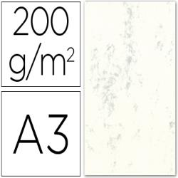 Cartulina marmoleada din a3 200 gr. crema claro paquete de 100