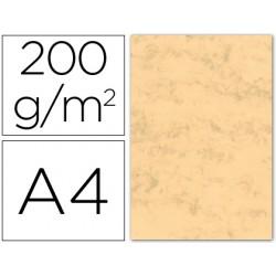 Cartulina marmoleada din a4 200 gr. ocre paquete de 100 h