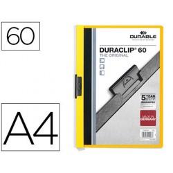 Carpeta duraclip dossier pinza lateral amarillo capacidad 60