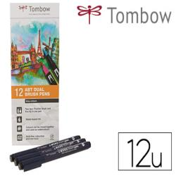 Rotulador tombow acuarelable doble punta pincel colores