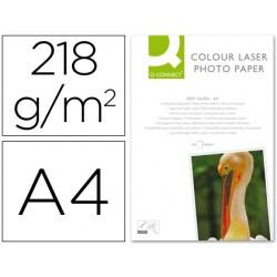 Papel q-connect foto glossy din a4 para fotocopiadoras e