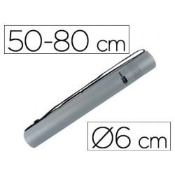 Portaplanos plastico liderpapel diametro 6 cm extensible hasta