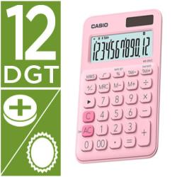 Calculadora casio ms-20uc-pk sobremesa 12 digitos tax +/- color