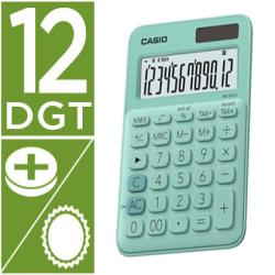 Calculadora casio ms-20uc-gn sobremesa 12 digitos tax +/- color