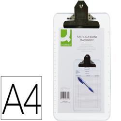 Portanotas q-connect plastico transparente din a4 4 mm